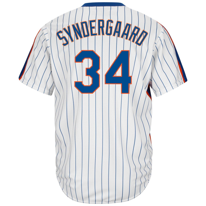 new concept da31c 3d5c9 Majestic Men's New York Mets Noah Syndergaard #34 Cool Base Cooperstown  Jersey