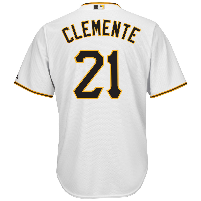 the latest 8712a 7e726 Majestic Men's Pittsburgh Pirates Roberto Clemente #21 Cool Base Replica  Jersey