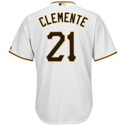 7ecf85c90 ... Majestic Men s Pittsburgh Pirates Roberto Clemente  21 Cool Base  Replica Jersey. Pirates Men s Apparel. Hover Click to enlarge