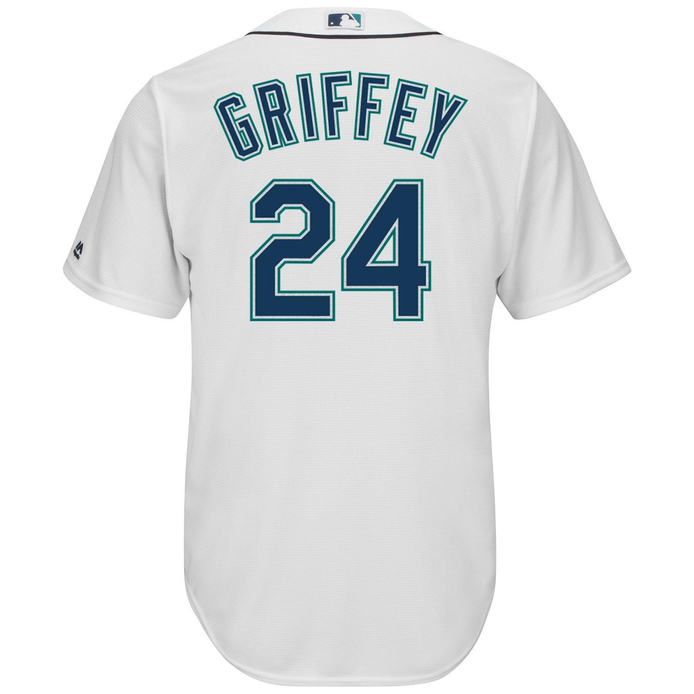 f6cbf86607 Majestic Men's Seattle Mariners Ken Griffey Jr. #24 Cool Base Replica Jersey  | Academy