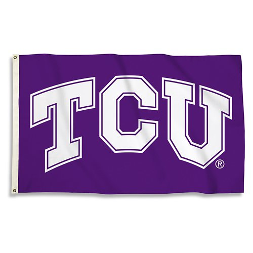 BSI Texas Christian University 3'H x 5'W Flag