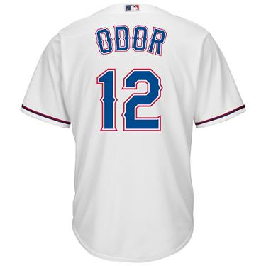 cf41b3bb ... Majestic Men's Texas Rangers Rougned Odor #12 Cool Base Replica Jersey.  Rangers Clothing. Hover/Click to enlarge