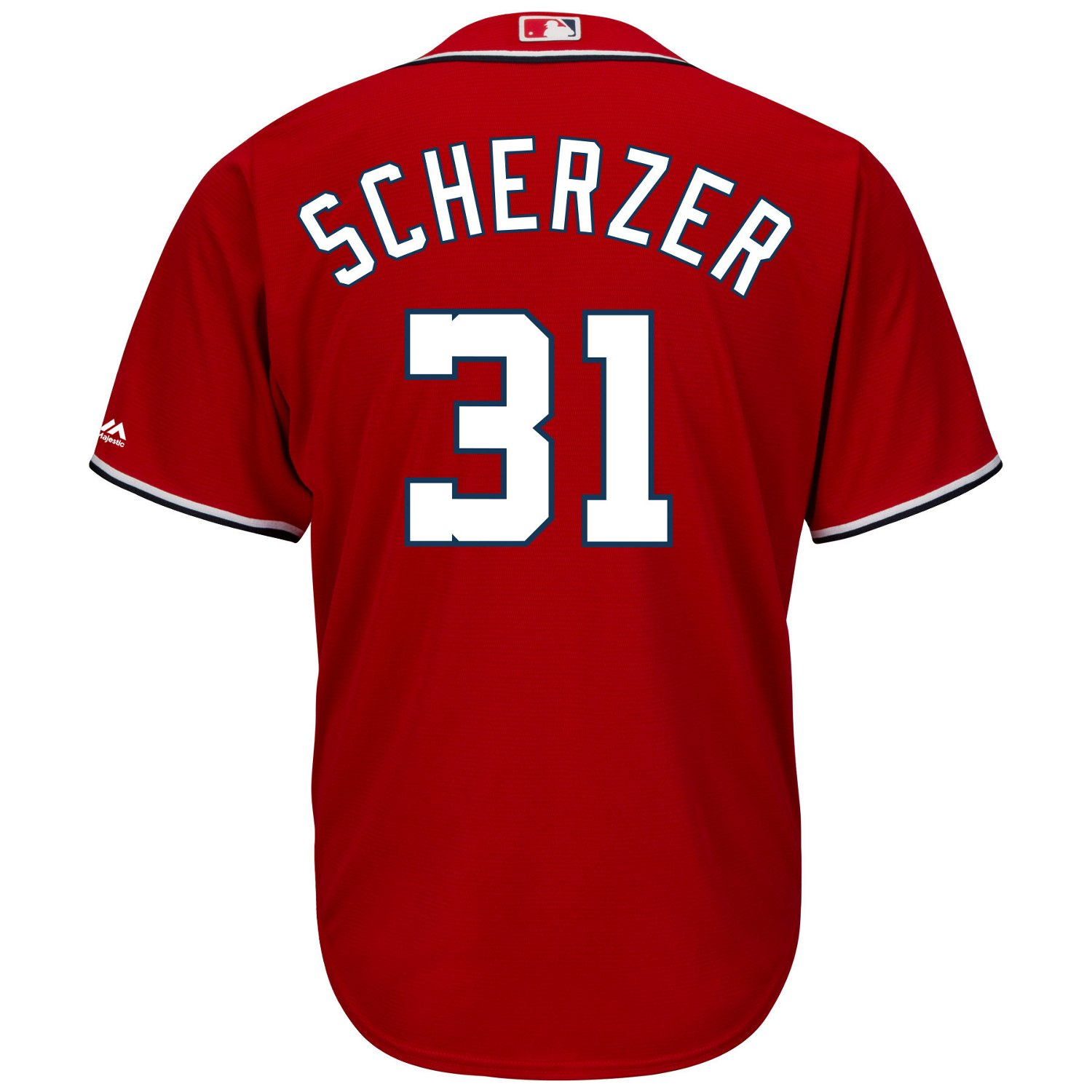 60e38685ad7 Majestic Men s Washington Nationals Max Scherzer  31 Cool Base Jersey