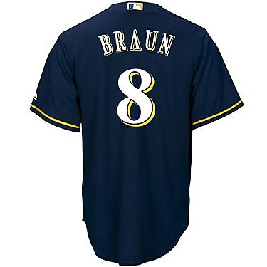 wholesale dealer a4bc2 cf829 Majestic Men's Milwaukee Brewers Ryan Braun #8 Cool Base Replica Jersey