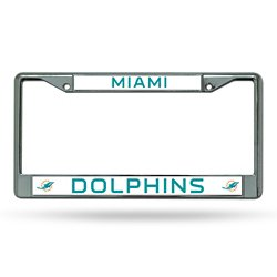 Miami Dolphins Chrome License Plate Frame