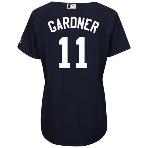 Majestic Women's New York Yankees Brett Gardner #11 Cool Base® Replica Jersey