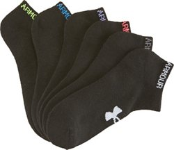 Under Armour Women's Cushioned No Show Running Socks 6 Pack