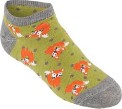 BCG Girls' Wooden Critter No-Show Socks