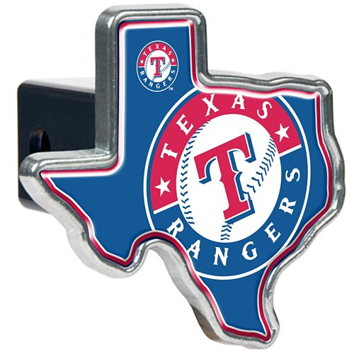 Great American Products Texas Rangers Texas-Shaped Trailer Hitch Cover