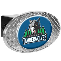 Great American Products Minnesota Timberwolves Diamond Plate Trailer Hitch Cover