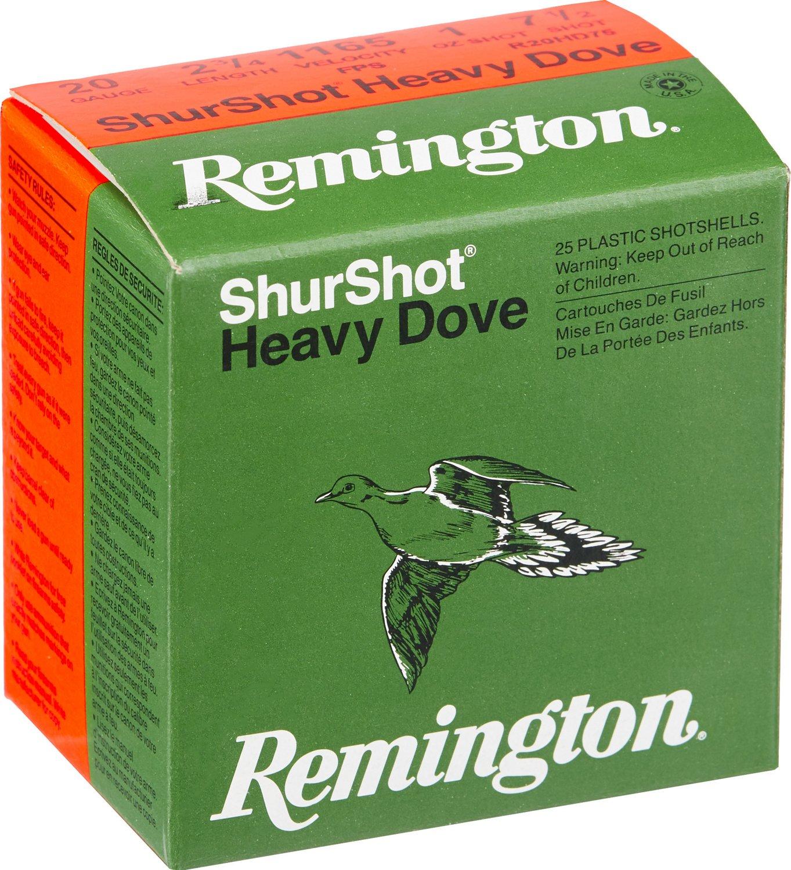 Remington ShurShot Heavy Dove 12 Gauge 7.5  Shotshells