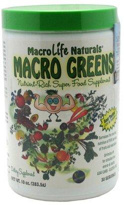MacroLife Naturals Macro Greens Super Food Supplement