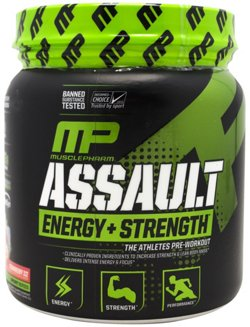 MusclePharm Assault Sport Strawberry Ice Preworkout Powder