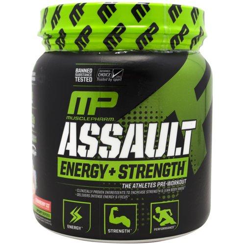 MusclePharm Assault Sport Strawberry Ice Preworkout Powder