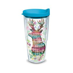 Tervis Happy Wife Happy Life 24 oz. Tumbler with Lid