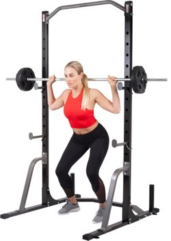Power Rack System with Olympic Weight Plate Storage