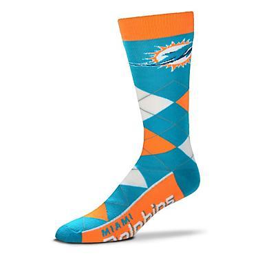 wholesale dealer d10f1 5a99d For Bare Feet Men's Miami Dolphins Flag Top Argyle Dress Socks