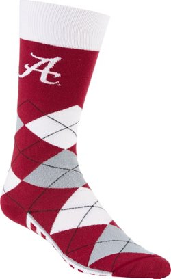 For Bare Feet Unisex University of Alabama Team Pride Flag Top Dress Socks
