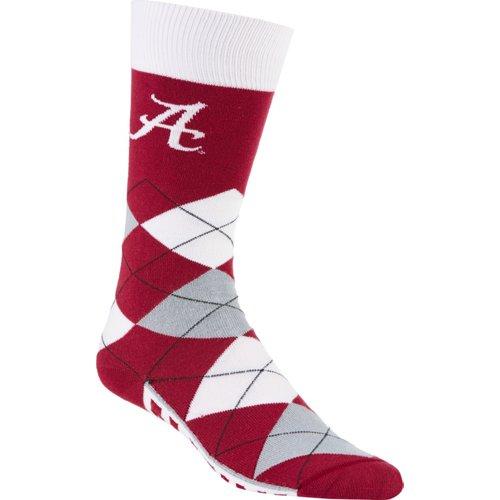For Bare Feet Unisex University of Alabama Team Pride Flag Top Dress Socks