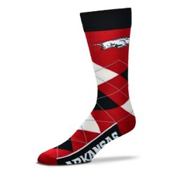 For Bare Feet Unisex University of Arkansas Team Pride Flag Top Dress Socks