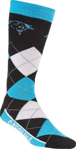 For Bare Feet Unisex Carolina Panthers Team Pride Flag Top Dress Socks