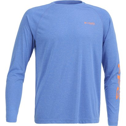 94373555 Columbia Sportswear Men's Terminal Tackle Heather Long Sleeve Shirt ...