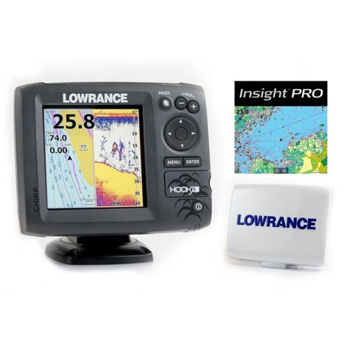 Lowrance Hook-5 Mid/High/Downscan Fishfinder/Chartplotter with Insight Pro