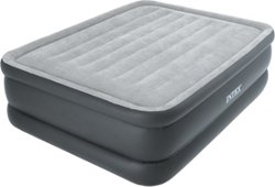 INTEX Dura-Beam Essential Rest Queen-Size Airbed with Built-In Pump