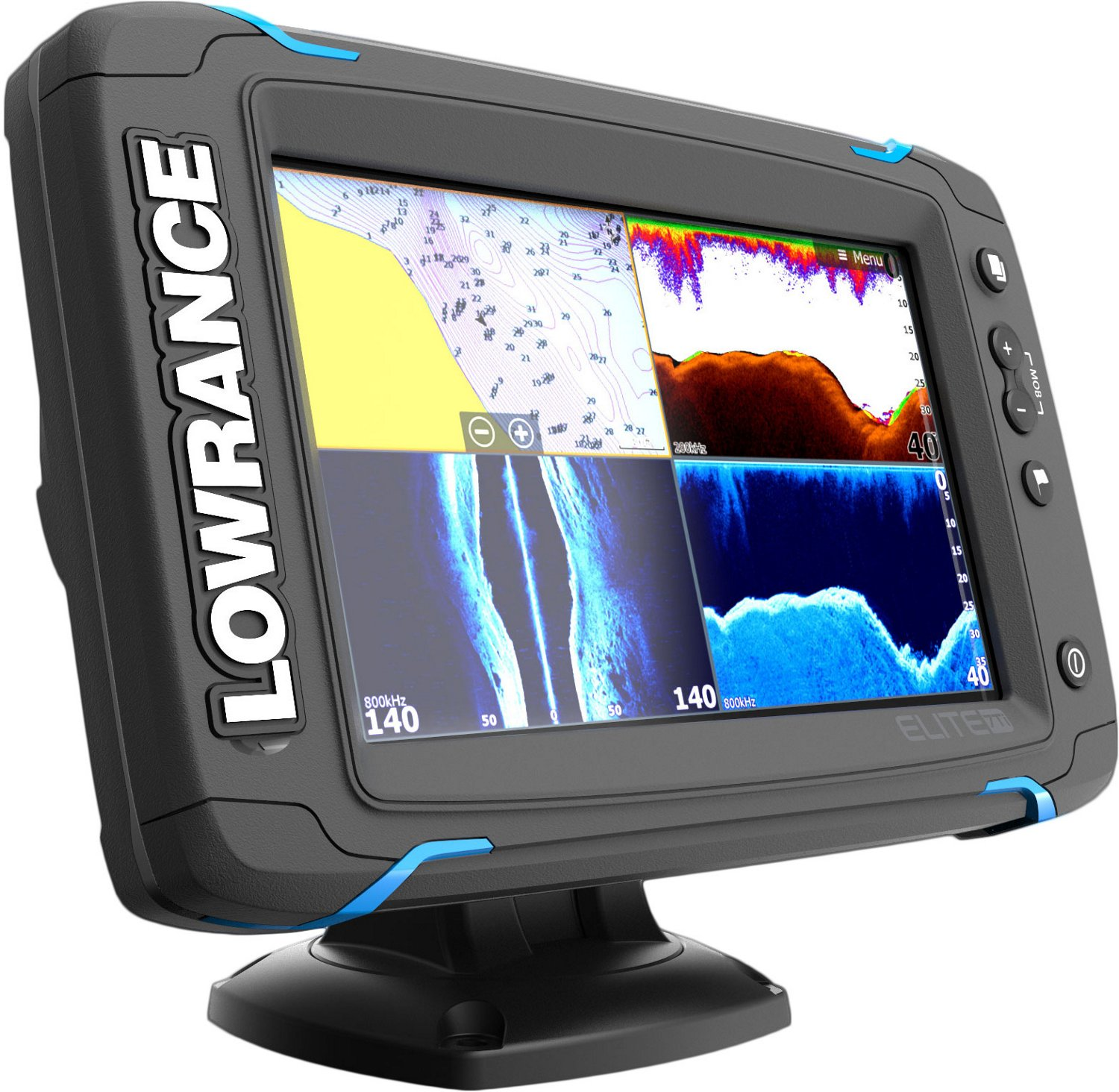 Fish Finders Depth Chartplotters Marine Gps Academy Wiring Diagram Lowrance Hook 7 Display Product Reviews For Elite Ti Totalscan Fishfinder Combo