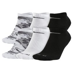 Nike Men's Dri-FIT Cushioned No-Show Socks 6 Pack