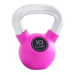 CAP Barbell Rubber-Coated 10 lb. Kettlebell with Chrome Handle