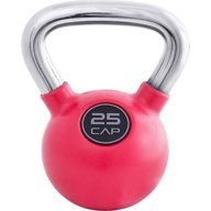 CAP Barbell Rubber-Coated 25 lb. Kettlebell with Chrome Handle