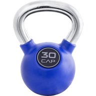 CAP Barbell Rubber-Coated 30 lb. Kettlebell with Chrome Handle