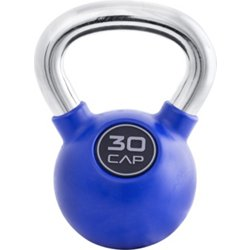 Rubber-Coated 30 lb. Kettlebell with Chrome Handle