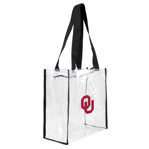 Little Earth Productions University of Oklahoma Clear Square Tote Bag