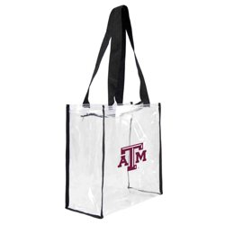 Little Earth Productions Texas A&M University Clear Square Tote Bag