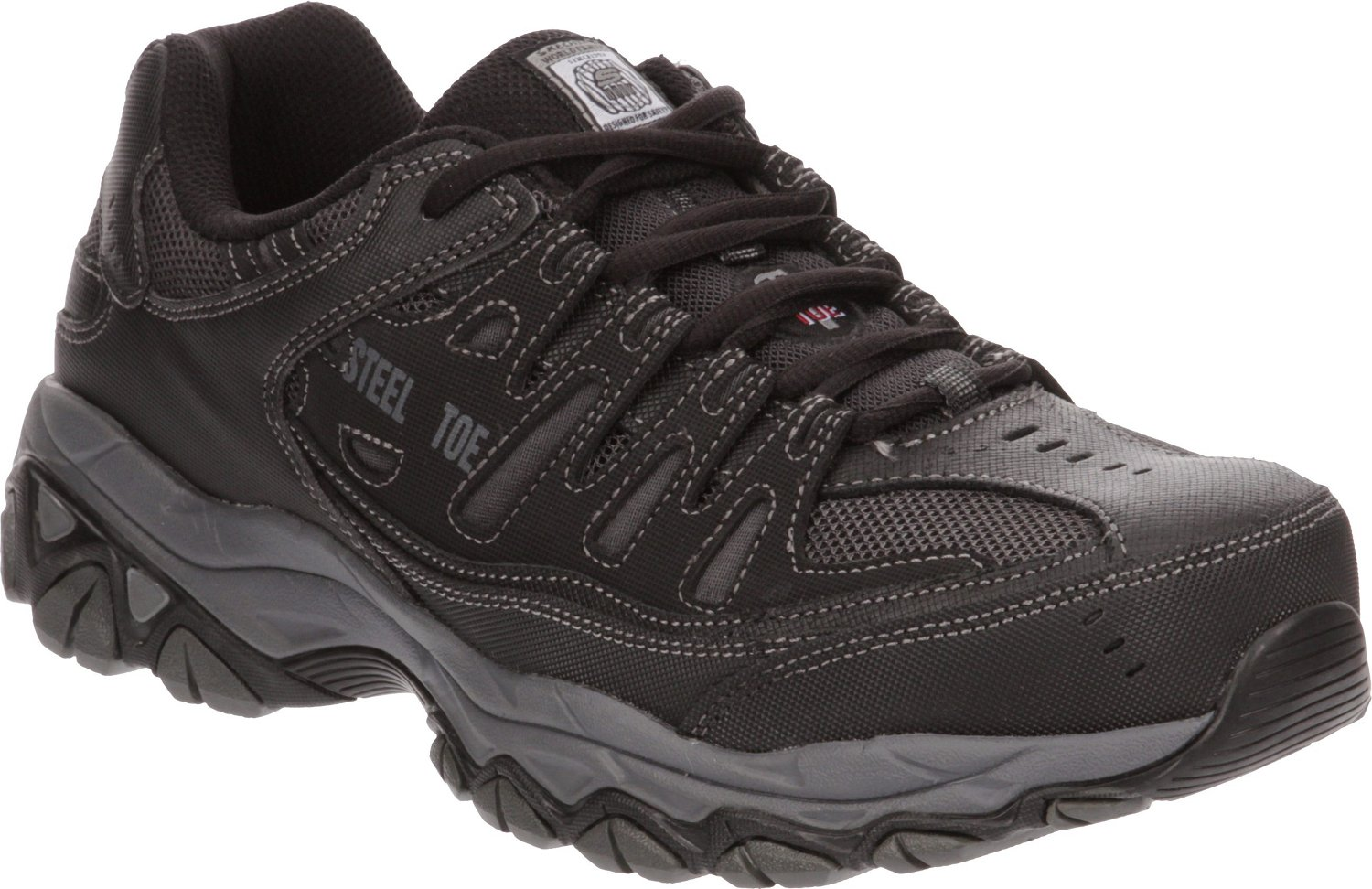 bfcfa0833276e Display product reviews for SKECHERS Men's Relaxed Fit Cankton Lace Steel  Toe Work Shoes