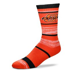 For Bare Feet Men's Oklahoma State University Stripe Athletic Crew Socks