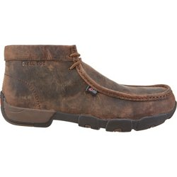 Men's Casuals Driver Moc EH Steel Toe Lace Up Work Boots