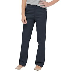Girls' Flat Front Uniform Pant