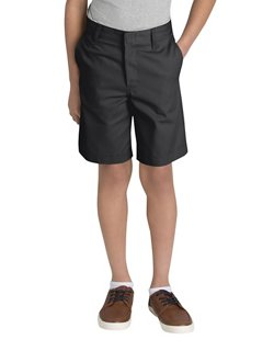 Dickies Boys' Flat Front Husky Uniform Short