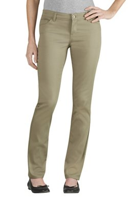 Dickies Juniors' Schoolwear Skinny Fit Straight Leg 5-Pocket Uniform Pant
