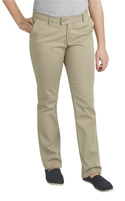 Dickies Juniors' Schoolwear Slim Fit Straight Leg Stretch Uniform Pant