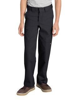 Dickies Boys' Relaxed Fit Straight Leg FlexWaist Double Knee Uniform Pant