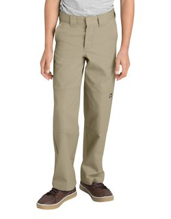 Dickies Boys' Relaxed Fit Straight Leg FlexWaist Double Knee Uniform Pant