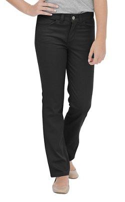 Dickies Girls' Skinny Fit Straight Leg 5-Pocket Stretch Twill Uniform Pant