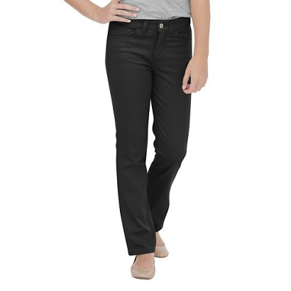 137c95f1a86 ... Dickies Girls  Skinny Fit Straight Leg 5-Pocket Stretch Twill Uniform  Pant. Girls  Uniform Pants. Hover Click to enlarge