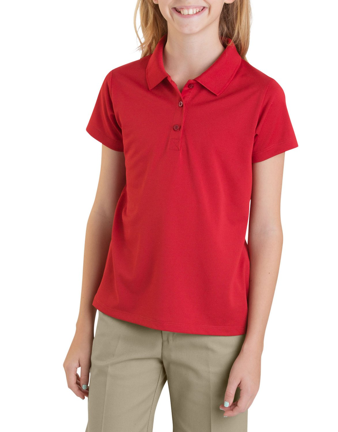 Dickies Girls Performance Short Sleeve Polo Shirt Academy