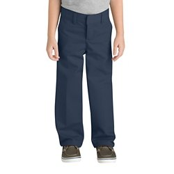 Boys' 4-7 Classic Fit Straight Leg Flat Front Pant