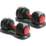 BCG 120 lbs Adjustable Dumbbell Set